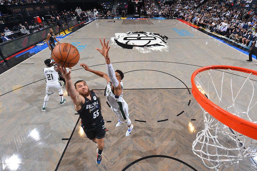 2021 NBA Playoffs - Milwaukee Bucks v Brooklyn Nets Photograph by Jesse D. Garrabrant
