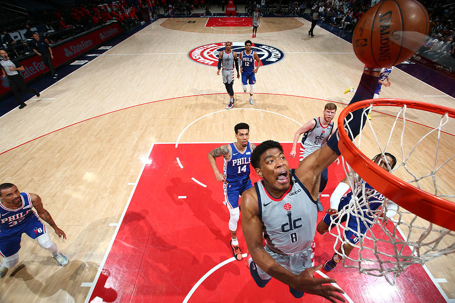 2021 NBA Playoffs - Philadelphia 76ers v Washington Wizards Photograph by Stephen Gosling