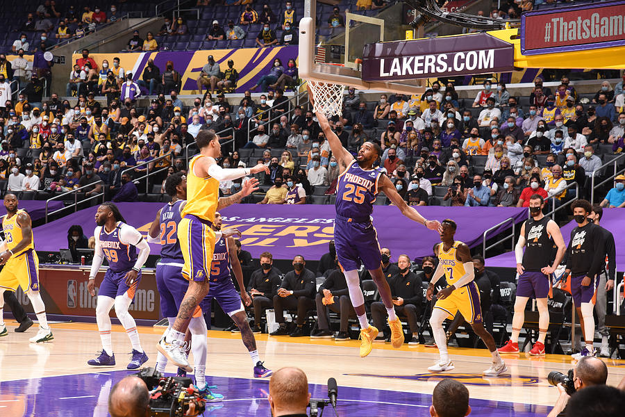 2021 NBA Playoffs - Phoenix Suns v Los Angeles Lakers Photograph by Andrew D. Bernstein
