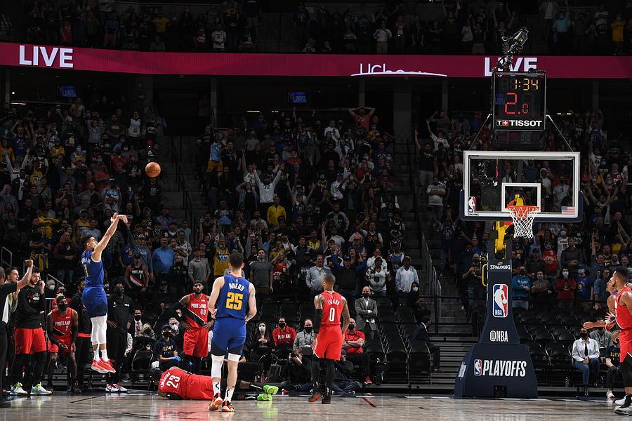 2021 NBA Playoffs - Portland Trail Blazers v Denver Nuggets Photograph by Garrett Ellwood