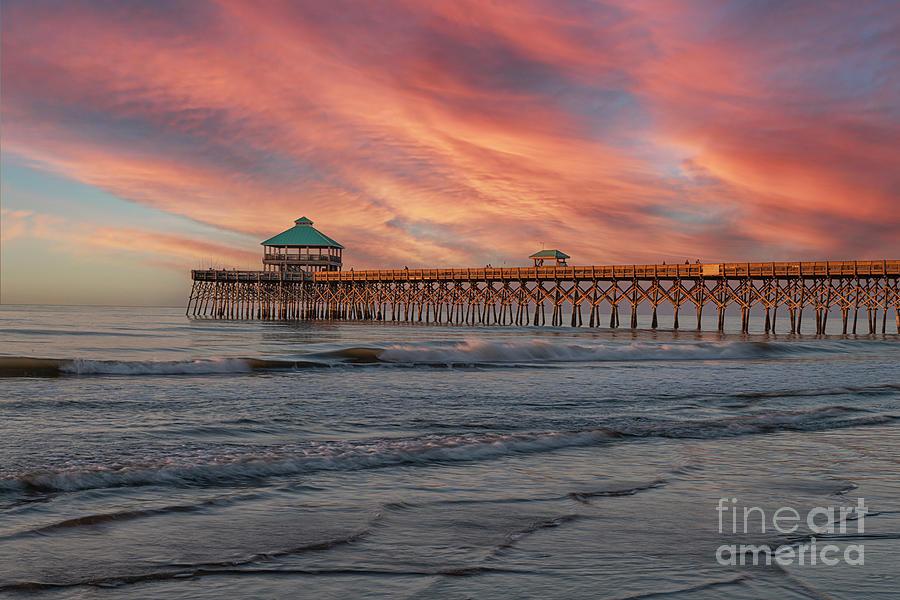 Charleston Colors - Folly Beach Pier Photograph