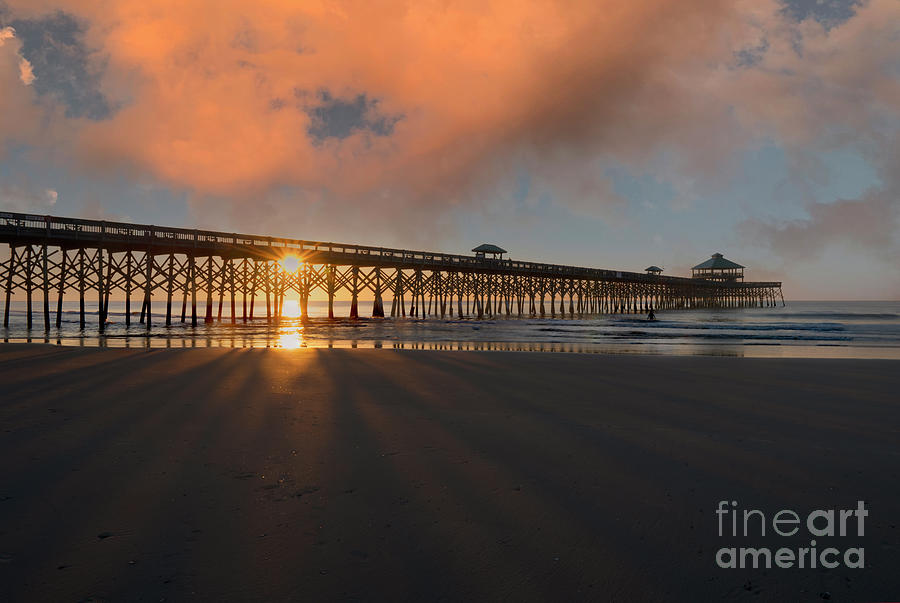 Southern Color Over Folly Beach Pier In Charleston Sc Photograph