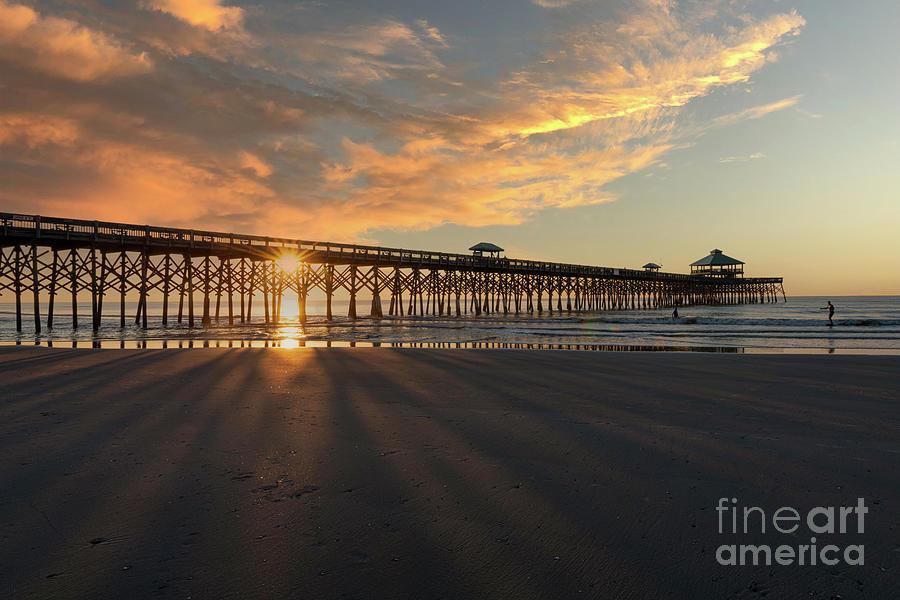 Folly Beach Pier - Charleston South Carolina - Southern Sky Photograph