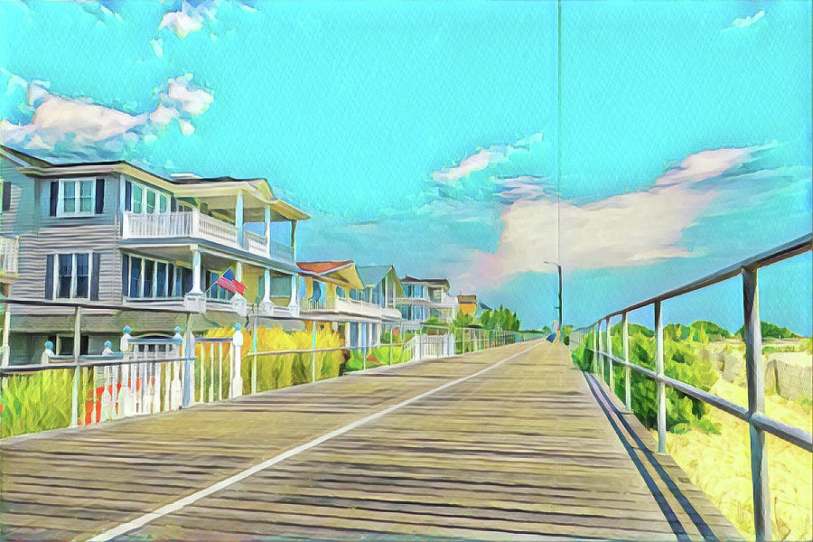 22nd And The Boardwalk Digital Art