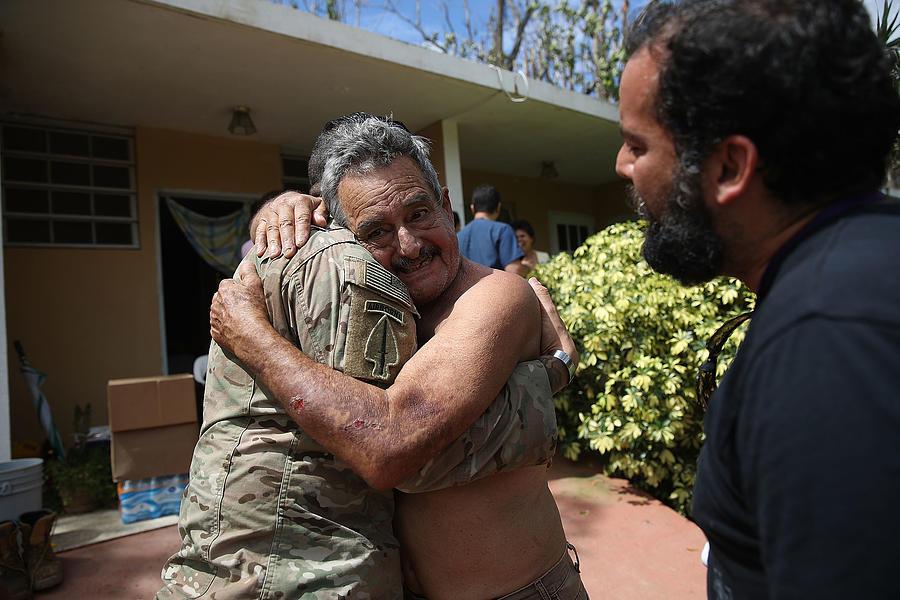 Puerto Rico Faces Extensive Damage After Hurricane Maria Photograph by Joe Raedle