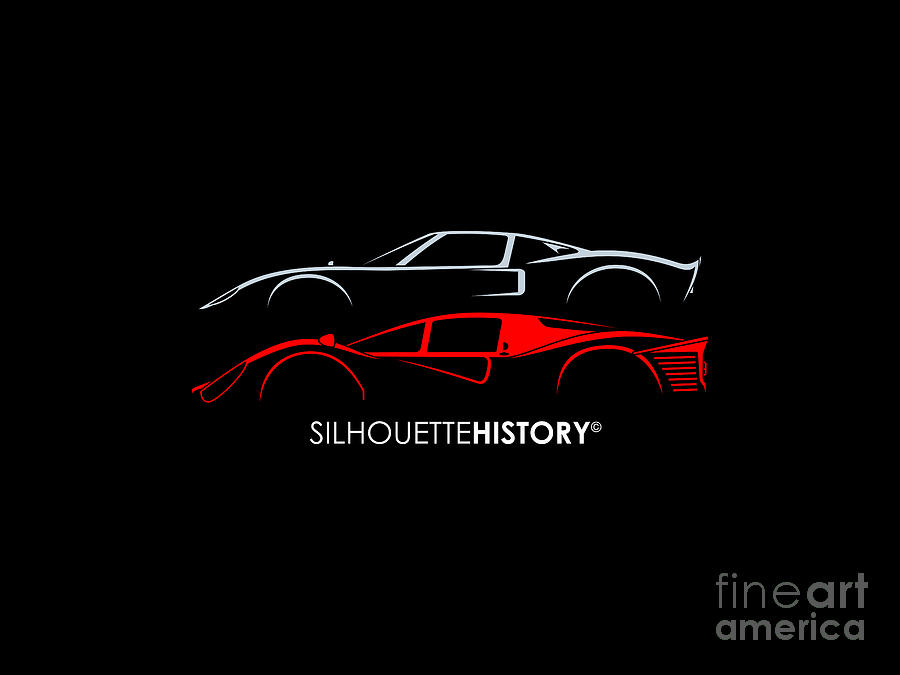 24 Hours Race Cars 66 SilhouetteHistory by Gabor Vida