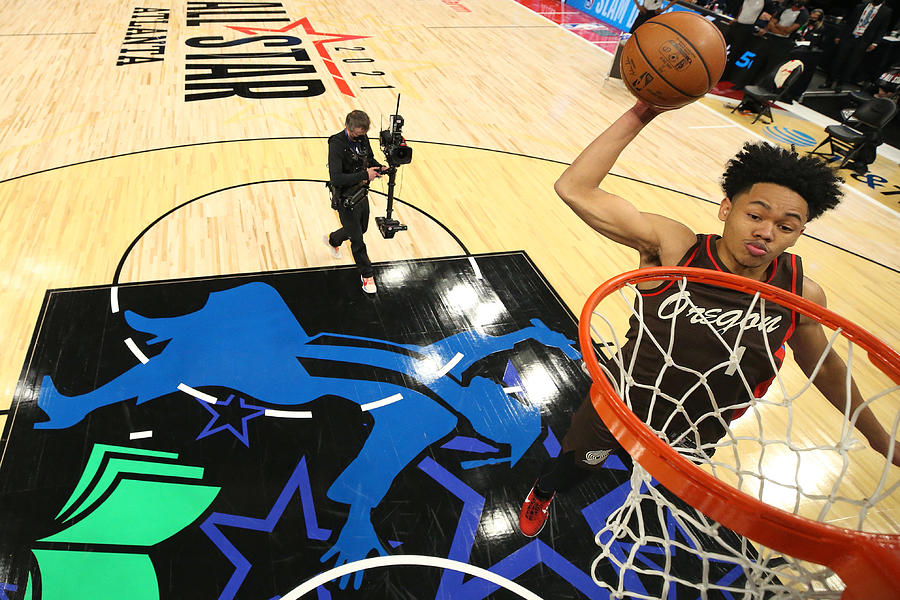 2021 NBA All-Star - AT&T Slam Dunk Contest Photograph by Joe Murphy