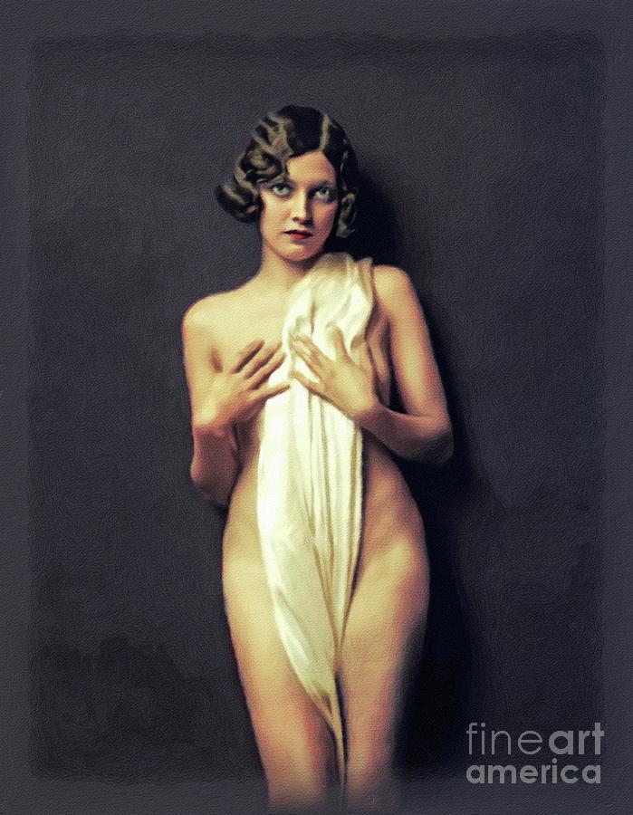 Adrienne Ames, Vintage Actress Painting