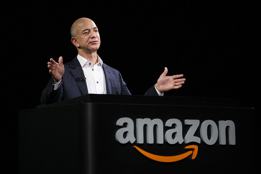 Amazon Holds News Conference Photograph by David McNew