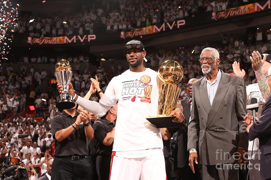 Bill Russell and Lebron James Photograph by Nathaniel S. Butler
