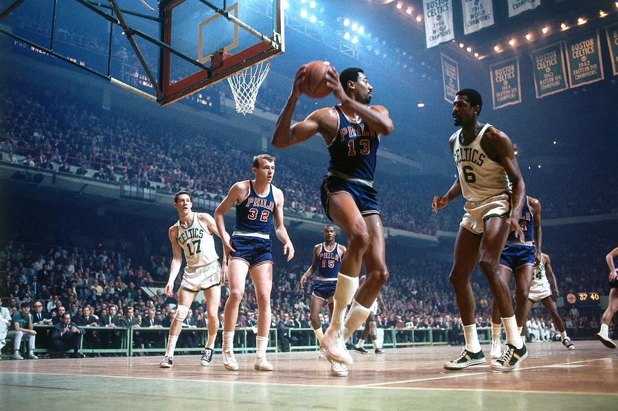 Bill Russell and Wilt Chamberlain Photograph by Dick Raphael