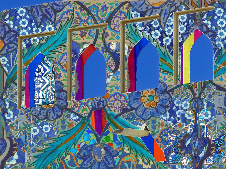 Blue Fusion Mixed Media
