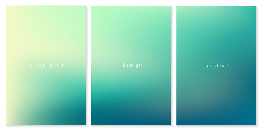 Blurred Gradient Background. for Template Brochure, Flyer, Comic, Business Card, Web Page Drawing by Ajwad Creative