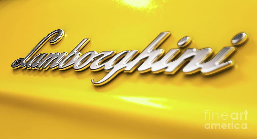 Classic Lamborghini Emblem Digital Art