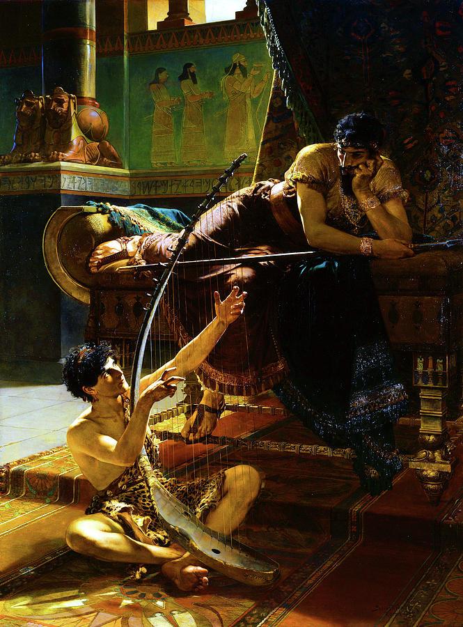 David and Saul by Julius Kronberg