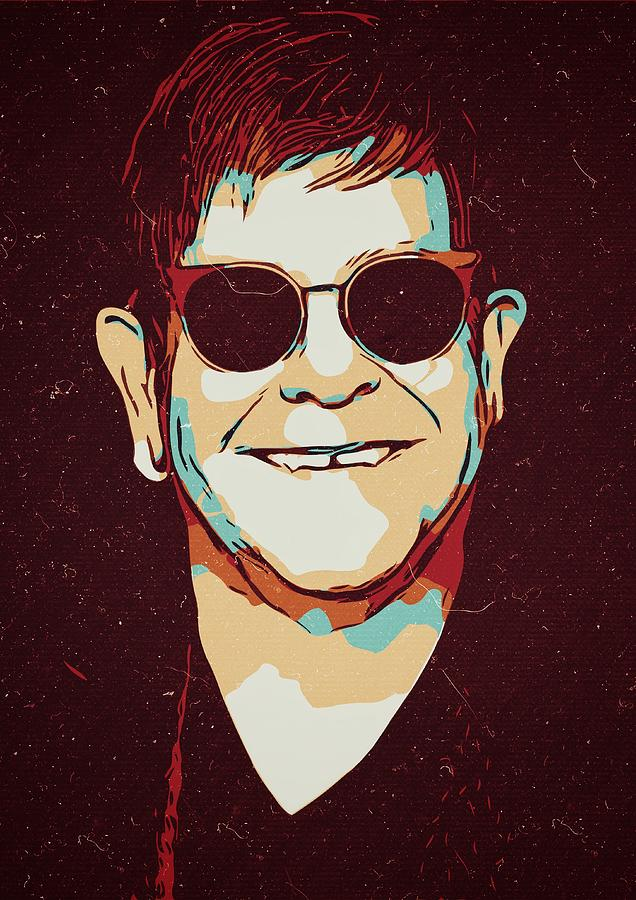 Elton John Painting - Elton John Artwork by New Art