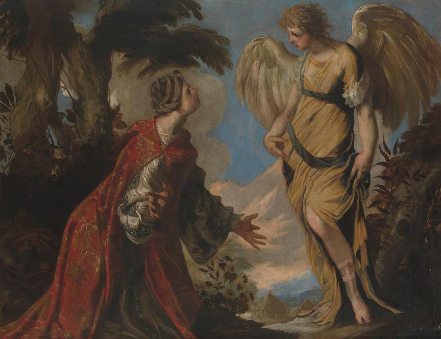Hagar and the Angel by Francesco Maffei