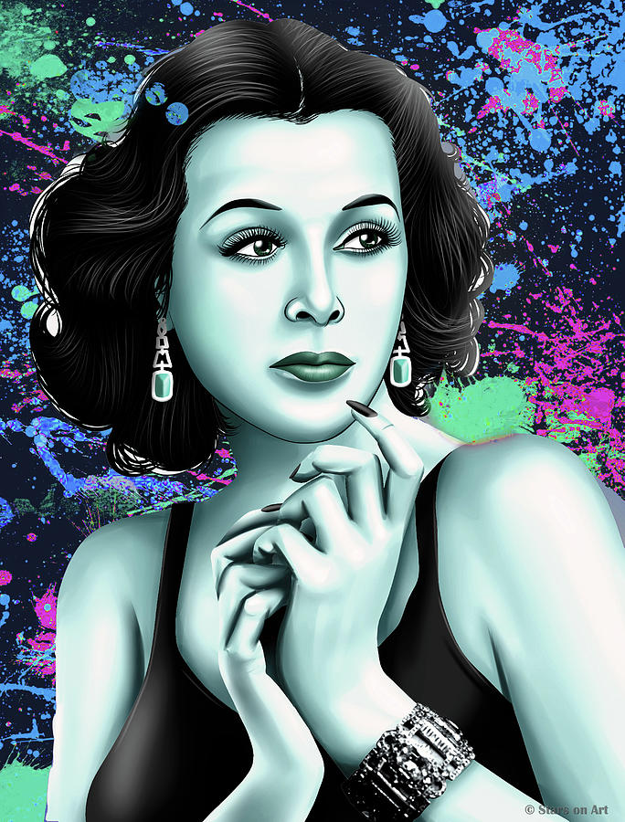 Hedy Lamarr Mixed Media