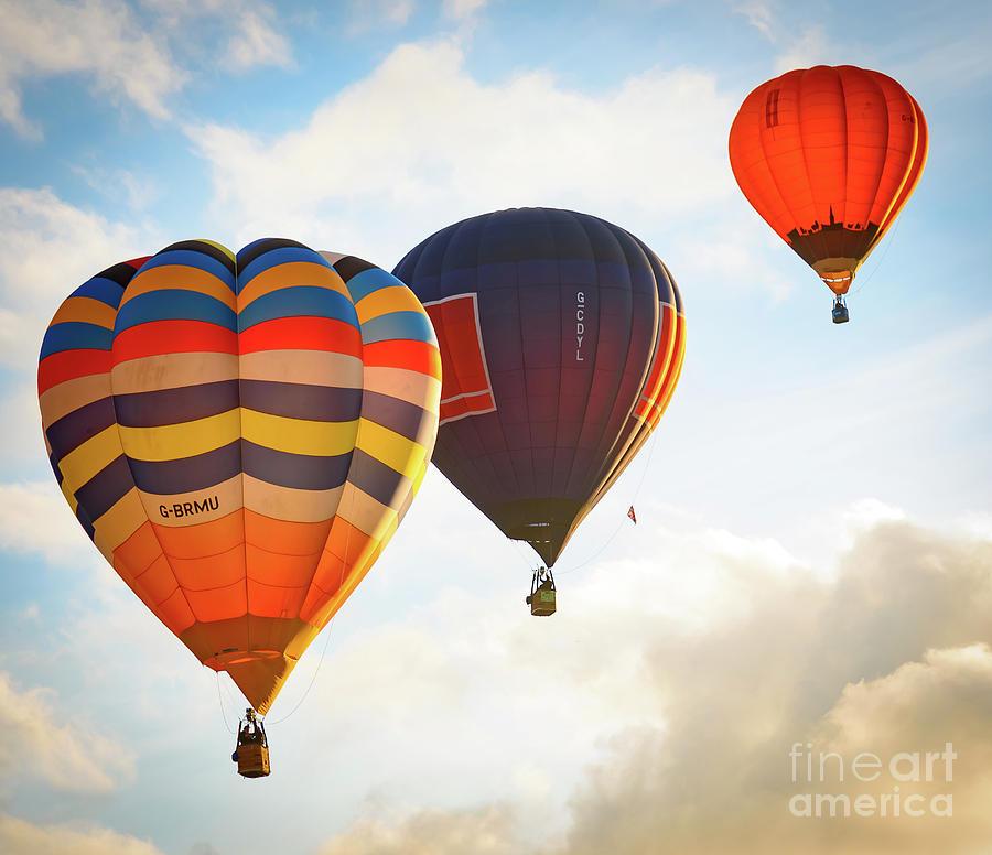 Hot Air Balloons at Bristol International Balloon Fiesta. by Colin Rayner