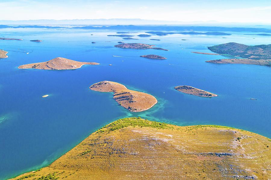 Kornati. Aerial Panoramic View Of Famous Adriatic Sea Sailing De Photograph