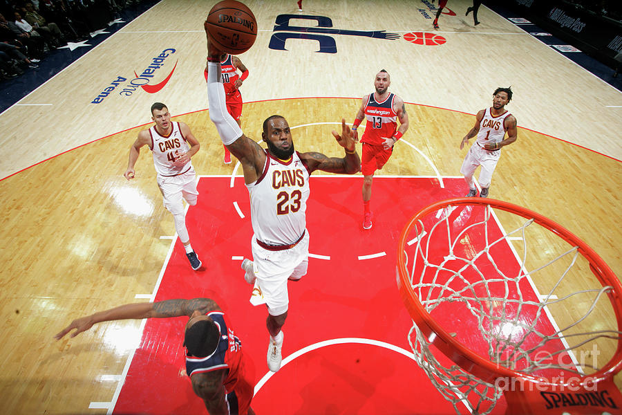 Lebron James Photograph by Ned Dishman