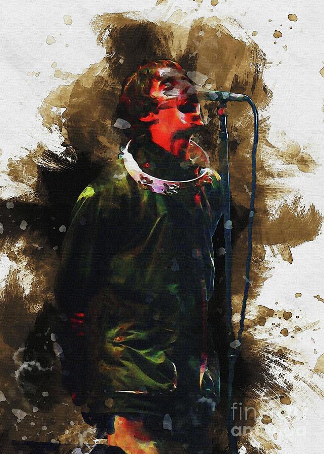 Liam Gallagher Digital Art