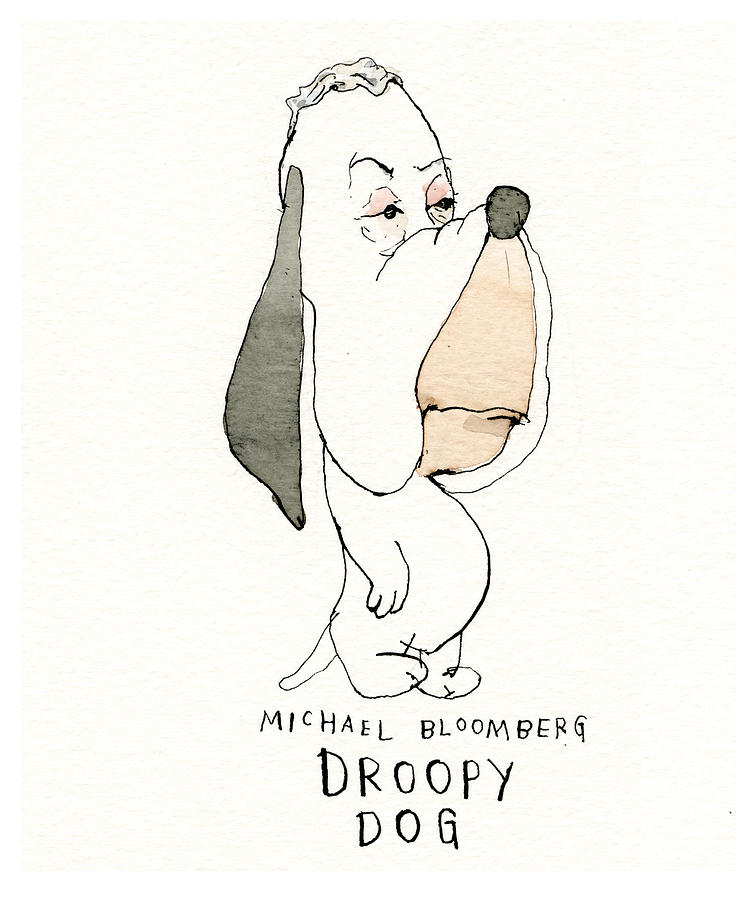 Looney Dems Presidential Wannabes, Cartoonified Painting by Barry Blitt