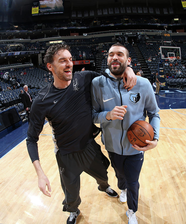 Marc Gasol and Pau Gasol Photograph by Joe Murphy