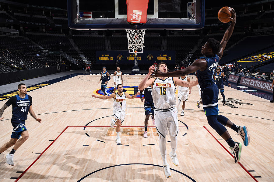 Minnesota Timberwolves v Denver Nuggets Photograph by Garrett Ellwood