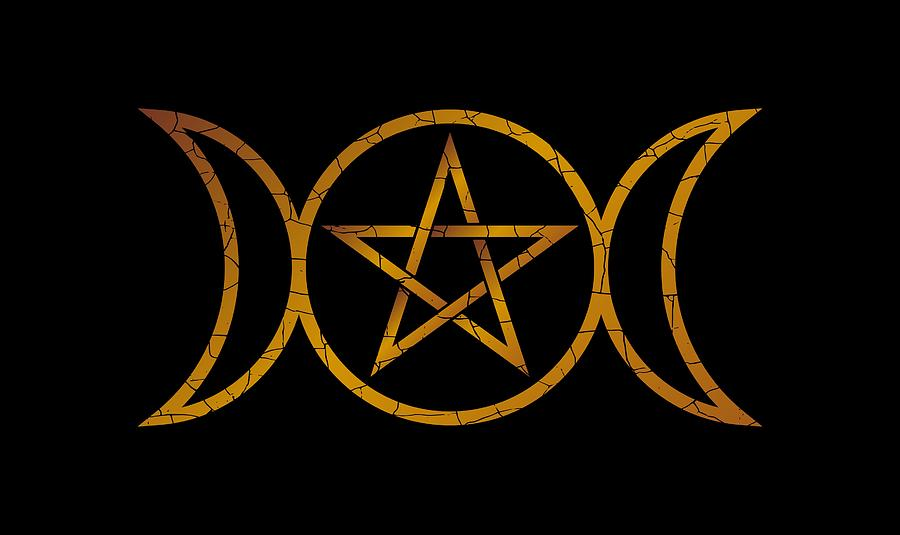 3 Moons with Pentagram by Keith Hawley