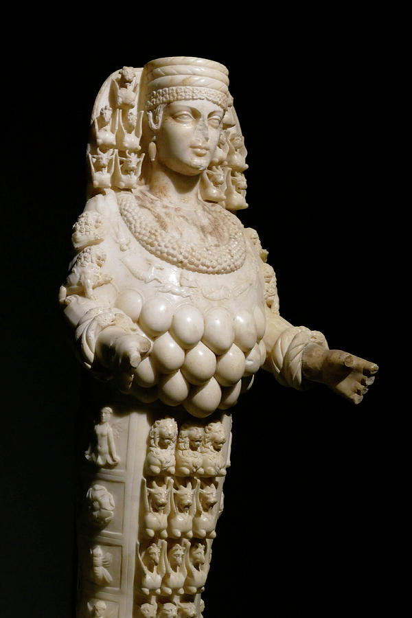 Multi breasted statue of goddess Artemis by Steve Estvanik