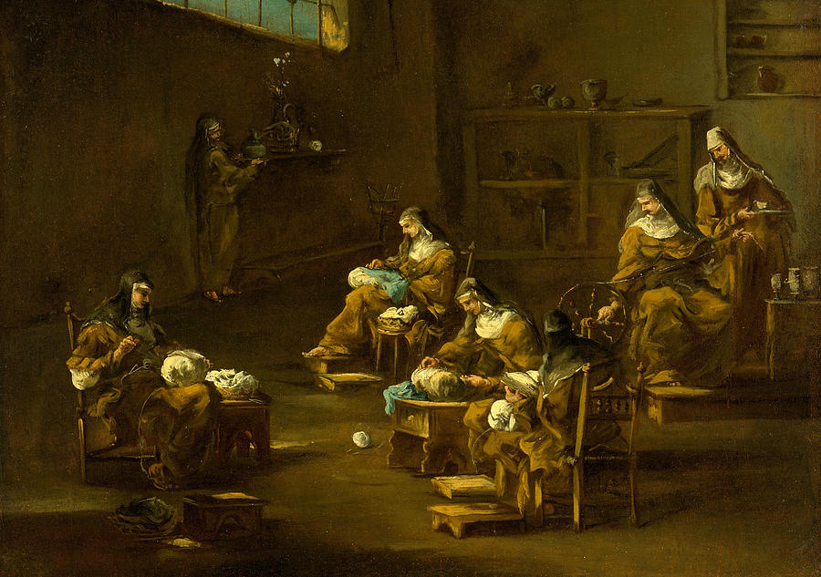 Nuns at Work by Follower of Alessandro Magnasco