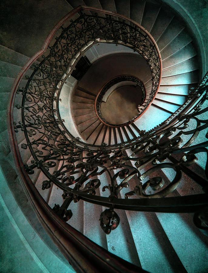 Ornamented spiral staircase by Jaroslaw Blaminsky