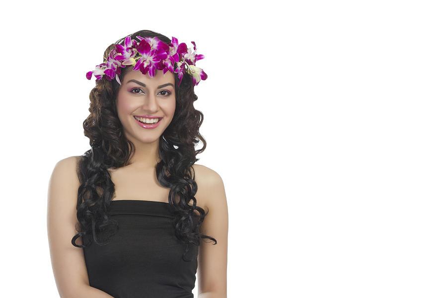 Portrait of a beautiful woman smiling Photograph by Sudipta Halder