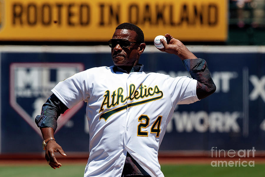Rickey Henderson Photograph by Jason O. Watson