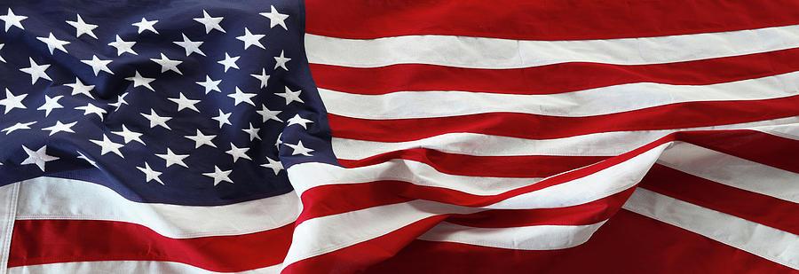Rippled Usa Flag Photograph