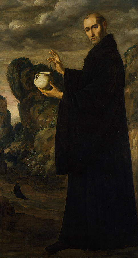 Saint Benedict by Francisco de Zurbaran