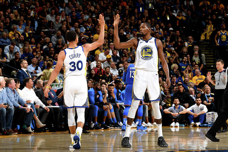 Stephen Curry and Kevin Durant Photograph by Noah Graham