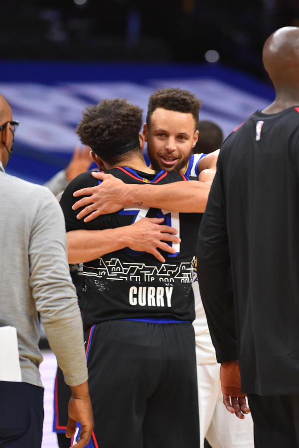 Stephen Curry and Seth Curry Photograph by Jesse D. Garrabrant