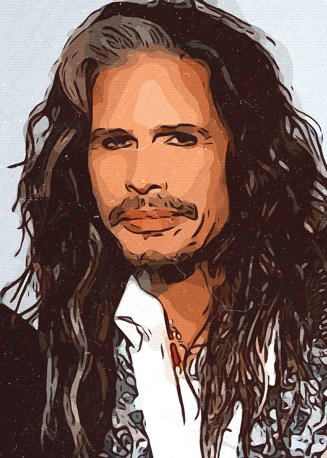 Steven Tyler Painting - Steven Tyler Artwork by New Art