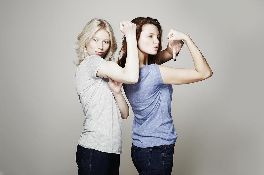 Studio portrait of two women who are best friends Photograph by Flashpop
