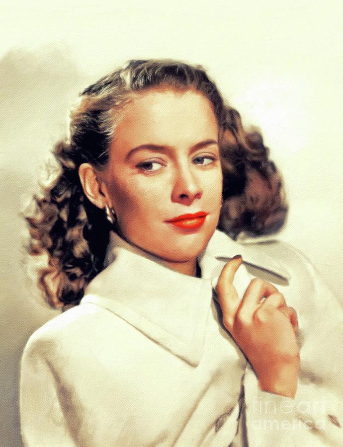 Susan Peters, Vintage Actress Painting