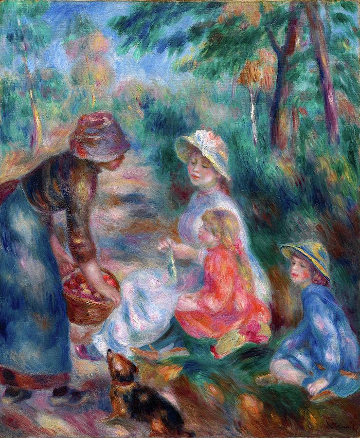 The Apple Seller by Pierre-Auguste Renoir