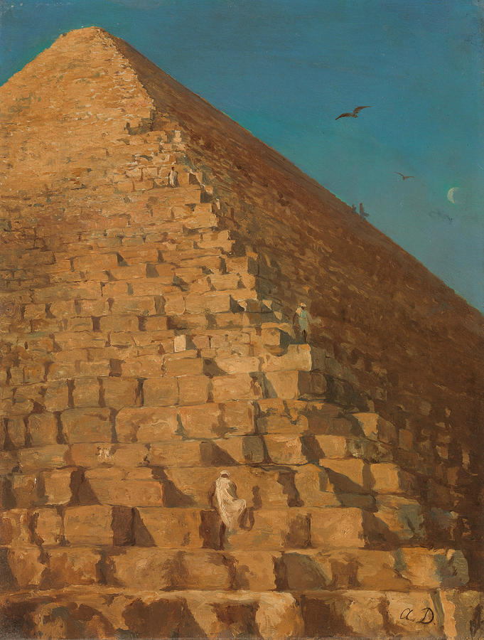 The Great Pyramid, Giza by Adrien Dauzats