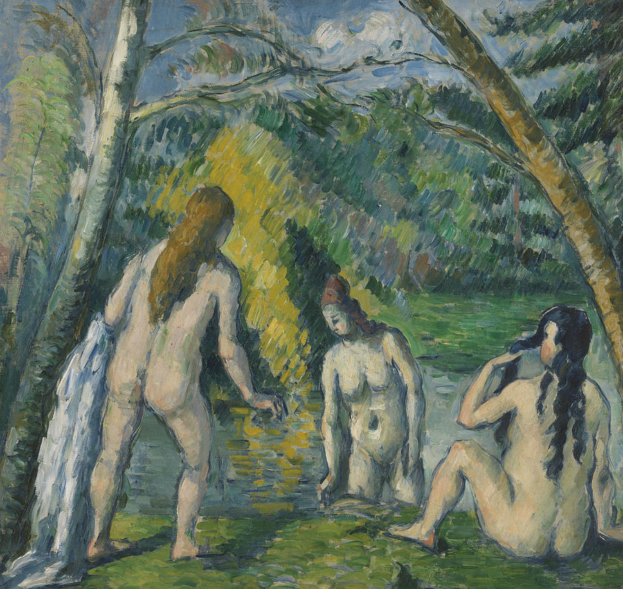 Three Bathers by Paul Cezanne