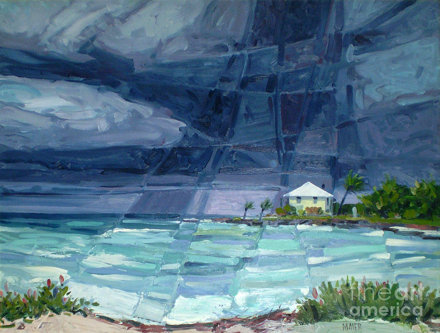 Key West Painting - Thunderstorm Over Key West by Donald Maier