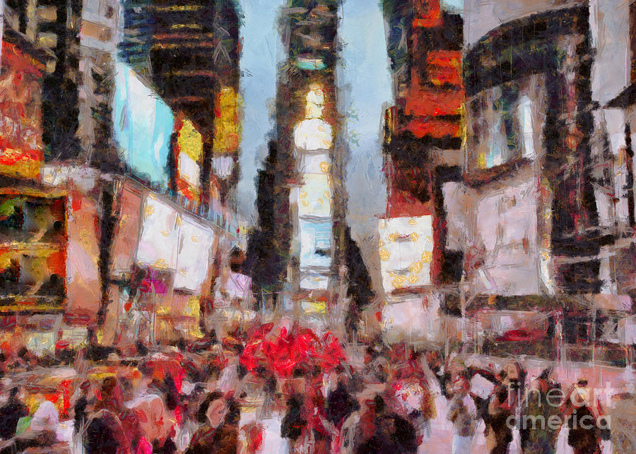 Times Square Digital Art