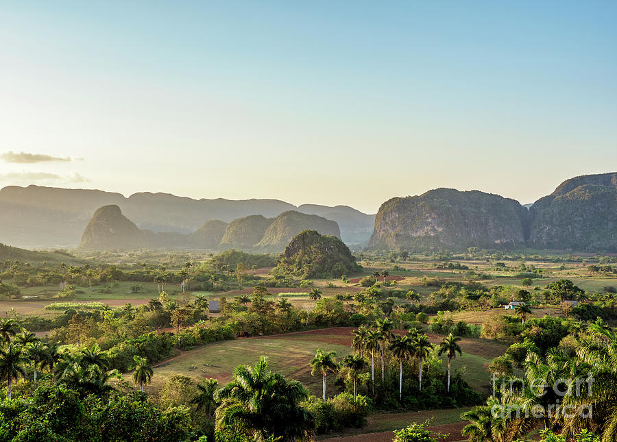 Vinales Valley at sunset, elevated view, UNESCO World ...
