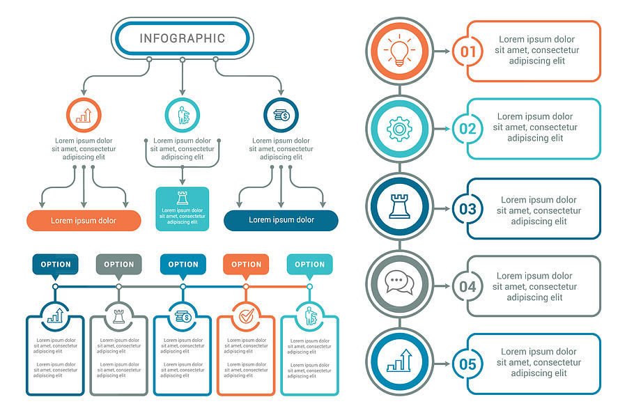 Infographic Elements Drawing by Artvea