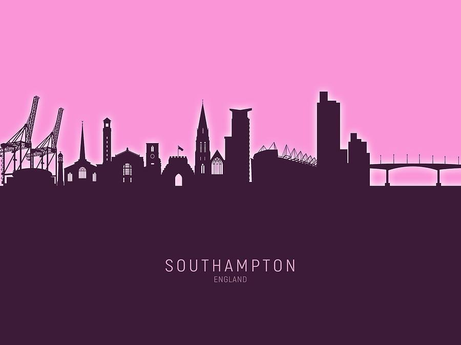 Southampton England Skyline Digital Art By Michael Tompsett